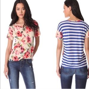 MADEWELL tee   red and blue floral   small